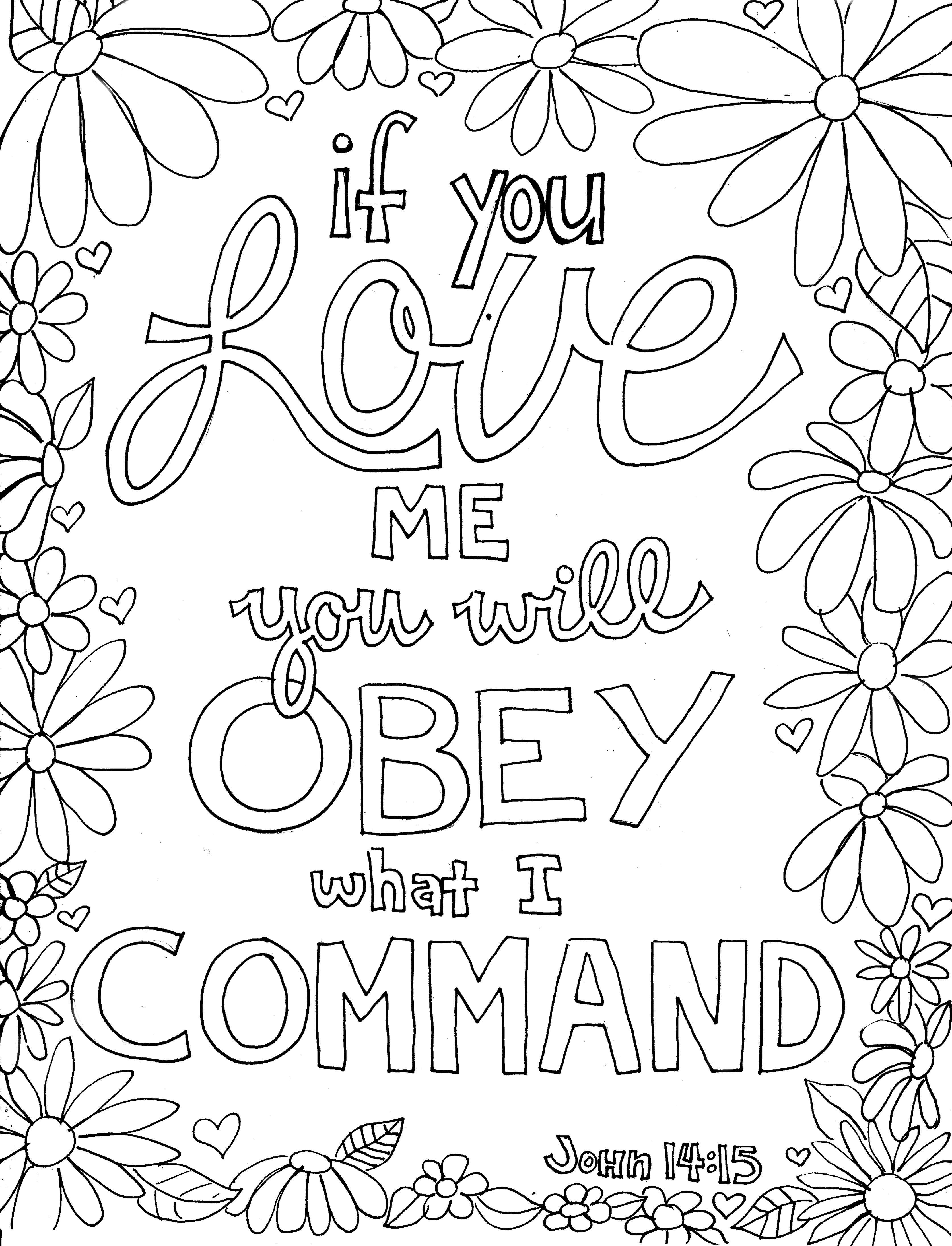 If You Love Me Scripture Doodle Scripture Coloring Bible Verse Coloring Page Bible Coloring Pages