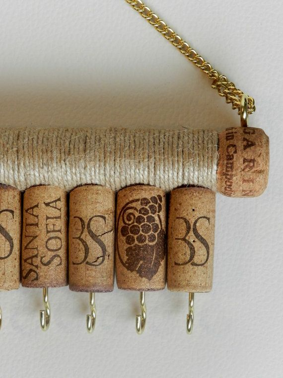 Wine Cork Jewelry Holder Key Holder Jewelry Holder By Rendijashop Cork Jewelry Wine Cork Jewelry Jewellery Storage