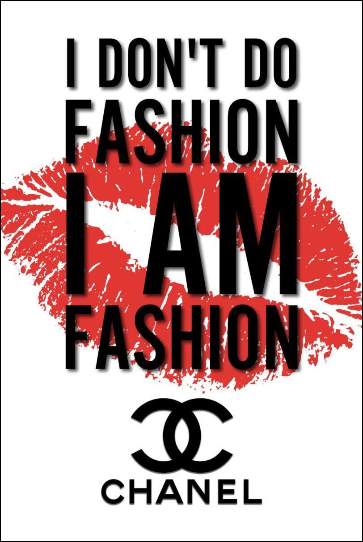 Chanel Fashion Quotes Logo Poster Original Art Print