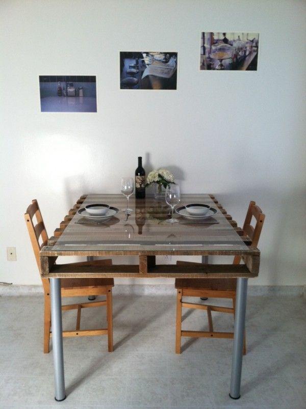 Table en palette 44 id es d couvrir photos for Fabriquer table a manger