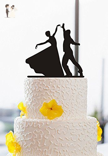 Vintage bride and groom dancing silhouette acrylic cake toppers for vintage bride and groom dancing silhouette acrylic cake toppers for wedding cake decor cake and cupcake toppers amazon partner link junglespirit Choice Image