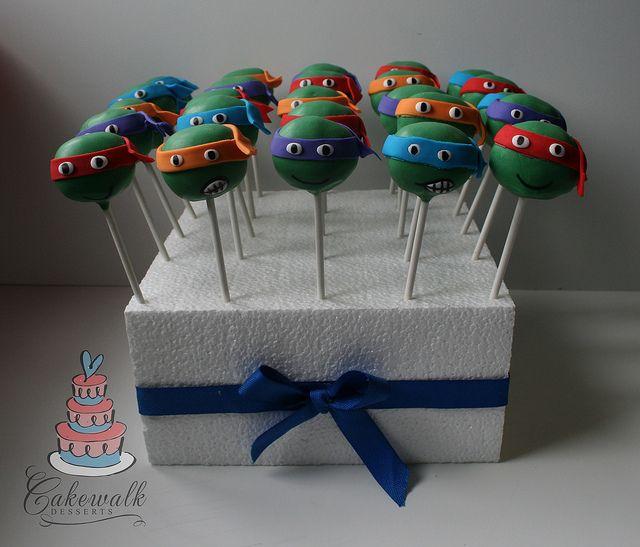Teenage Mutant Ninja Turtle Cake Pops Ninja Turtle Cake Pops Ninja Turtle Cake Ninja Turtles Birthday Party