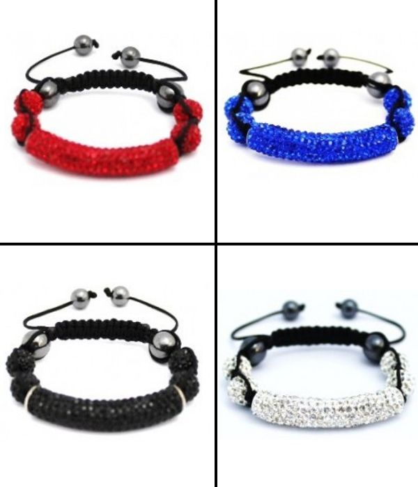 Special deal for women's who love #fashionable crystal shamballa tube bracelets now in half price. Available in 12 different colors: http://www.completethelookz.co.uk/deals