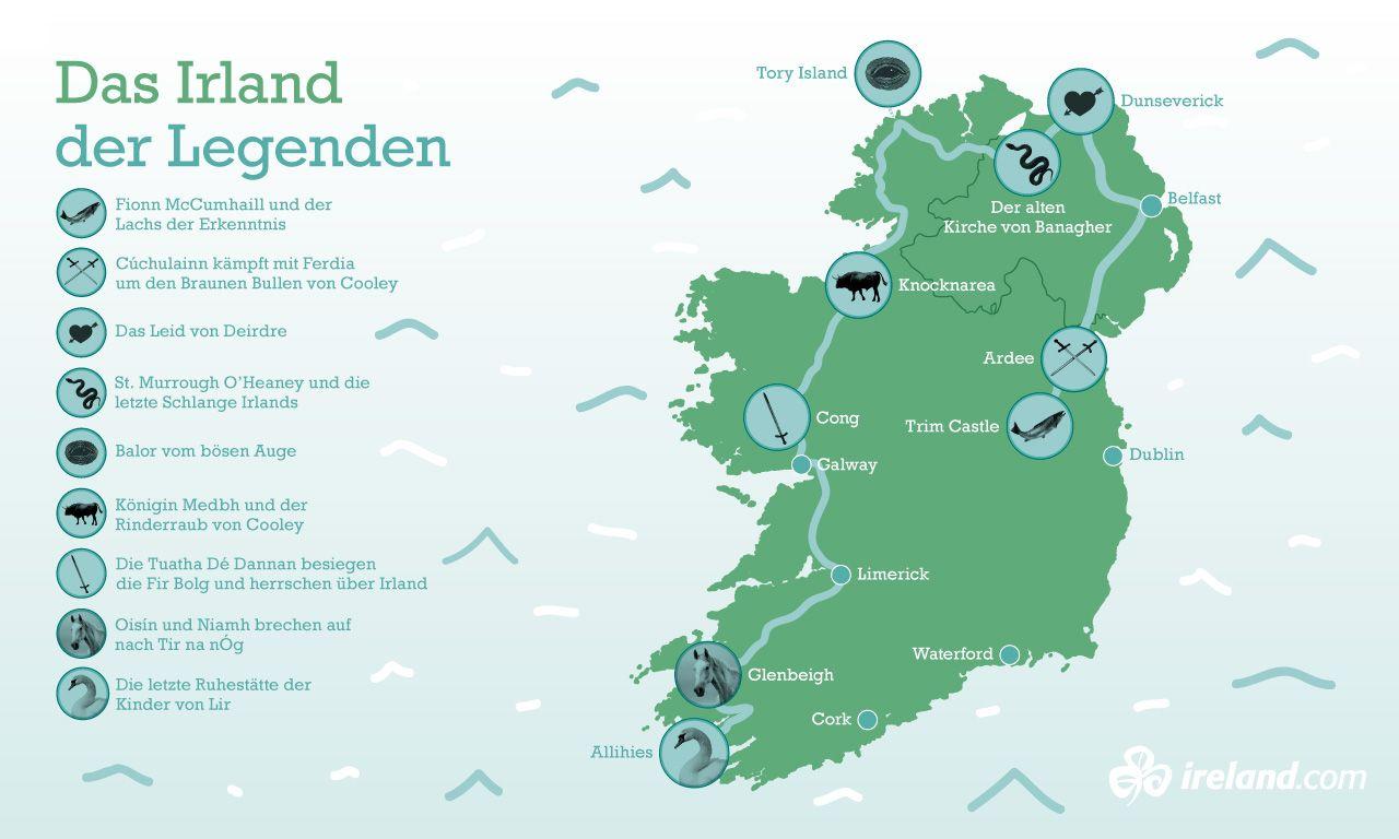 karte sehenswürdigkeiten irland Bildergebnis für irland karte mit sehenswürdigkeiten | Irland