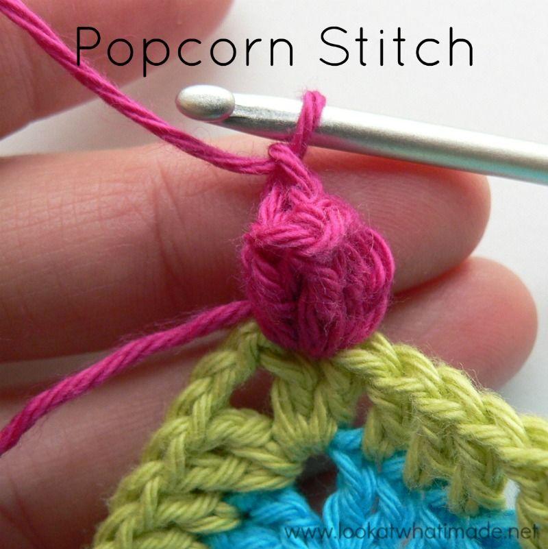Popcorn Stitch Photo Tutorial | Horgolás alaplépések, technikák ...