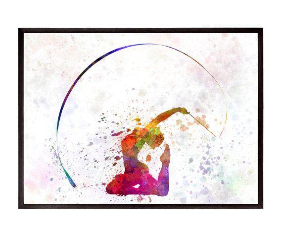 Gymnastique rythmique 01 ref 0650 par paulrommer sur etsy - Dessin de grs ...