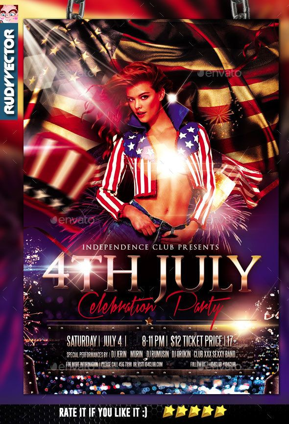 Independence Day Flyer Event flyers, Psd templates and Flyer - independence day flyer