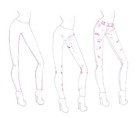 How to draw folds and creases on clothes pants for for How to sketch clothes for beginners