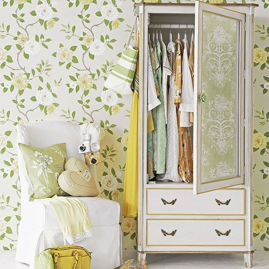 Floral Bedroom With Painted Wardrobe | Small Bedroom Design Ideas | Bedroom  | PHOTO GALLERY |