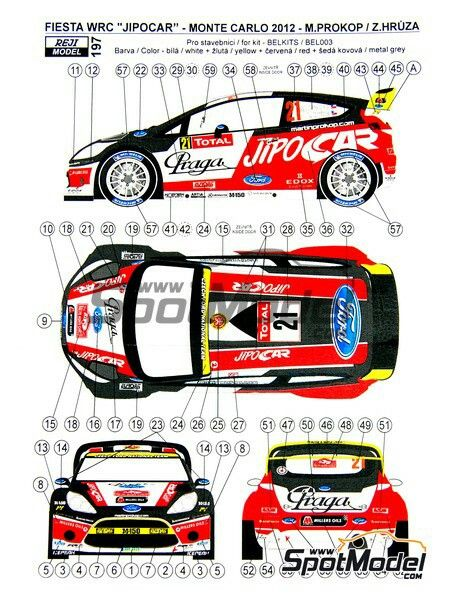 Reji Model: Marking 1/24 scale - Ford Fiesta WRC Jipo Car #21