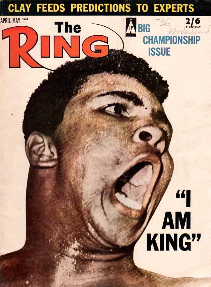"Apr/May 1964 - Ring magazine - ""I Am King"" - Cassius Clay / Muhammad Ali"