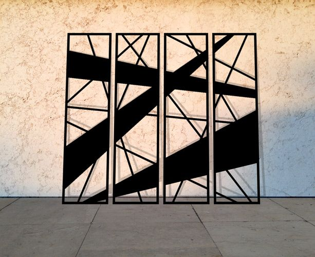 Laser Cut Metal Panels In Abstract And Geometric Designs To Suit Modern Home