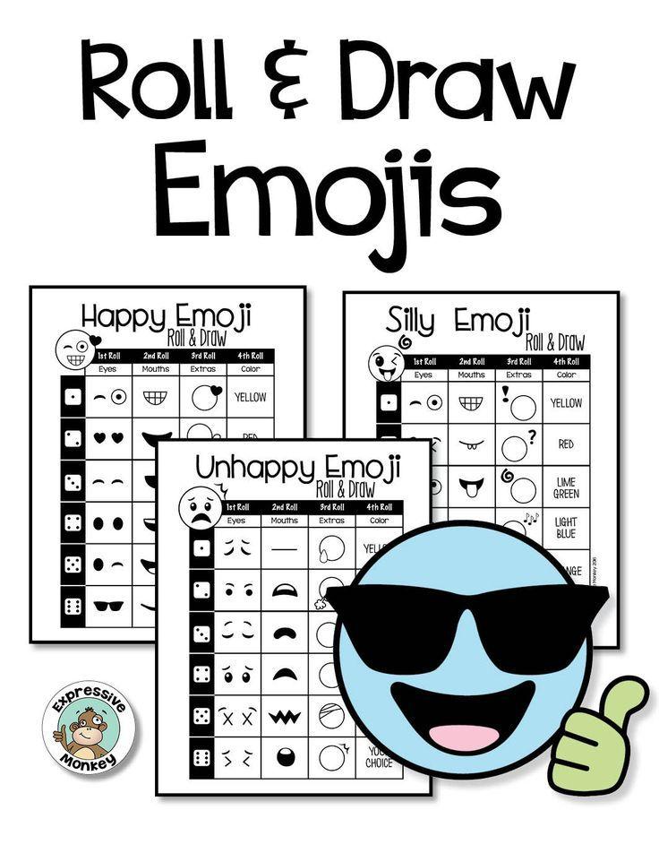 Emoji Drawing & I Statement Writing Emoji, I am