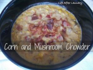 Corn and Mushroom Chowder Pureed food recipes, Chowder