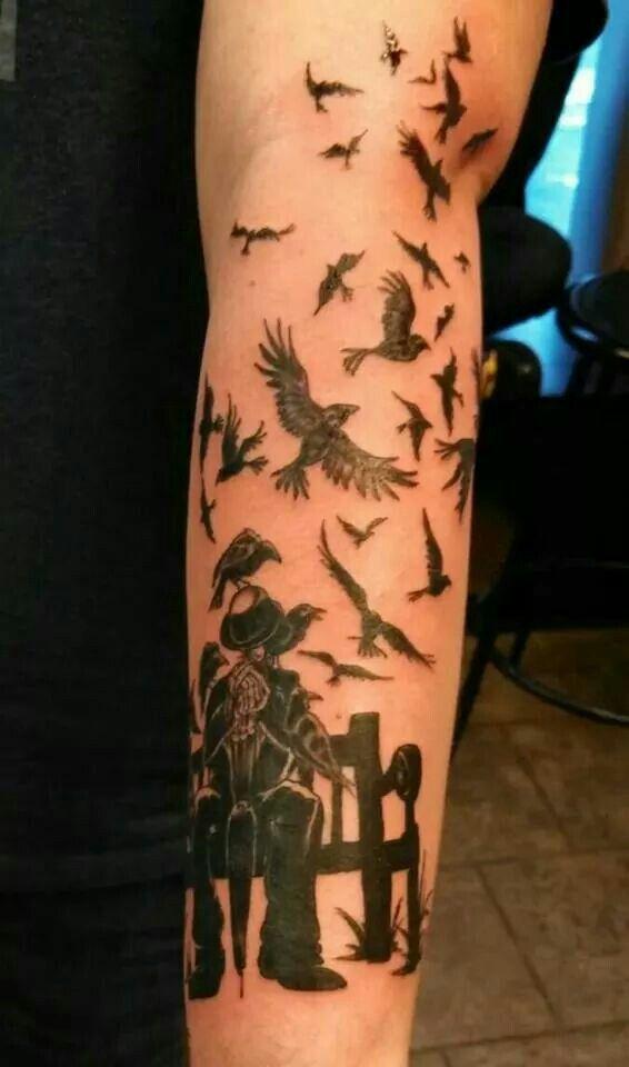 BioShock Crows Tattoo | Tattoo Inspiration | Tattoos, Ink, Flowers