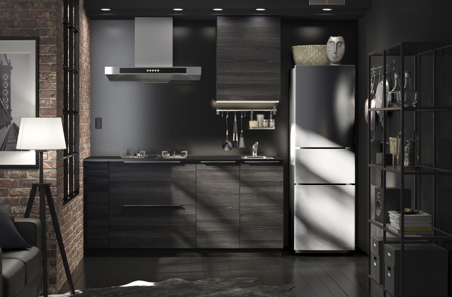 Keuken Zwart Ikea : Tingsryd front voor vaatwasser houteffect zwart