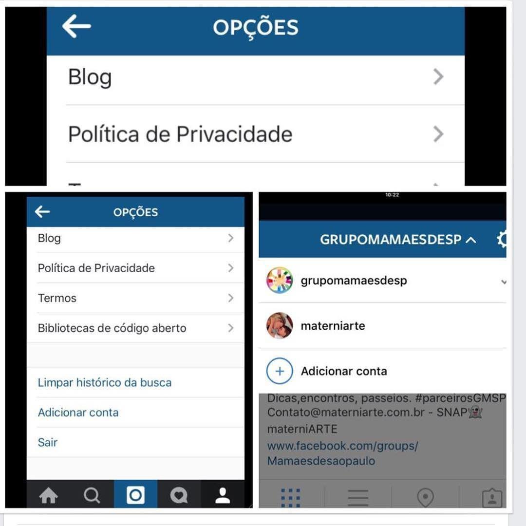 Olha lá no Instagram a novidade!!!!! Quem tem mais de uma conta pode adicionar .....Achei super pratico (finalmente nehhhhh) #materniarte #Instagram #AdoreiANovidade #grupomamaesdesp