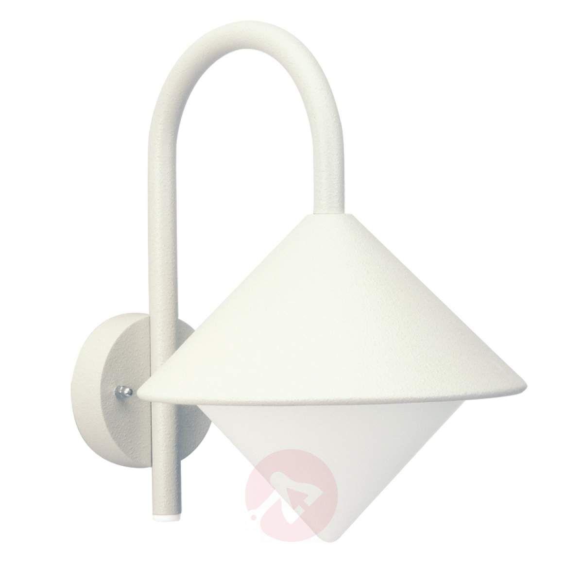 Zewnętrzna Lampa ścienna Julieta Biała Lampy Wiszące