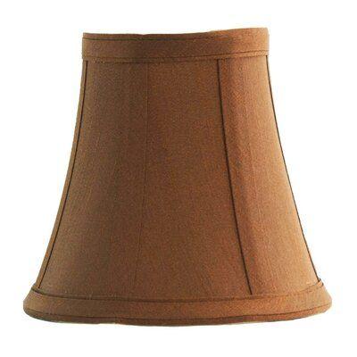 Red Barrel Studio 4 5 H Silk Shantung Bell Candelabra Shade Clip On Red Barrel Studio Drum Lampshade Chandelier Lamp