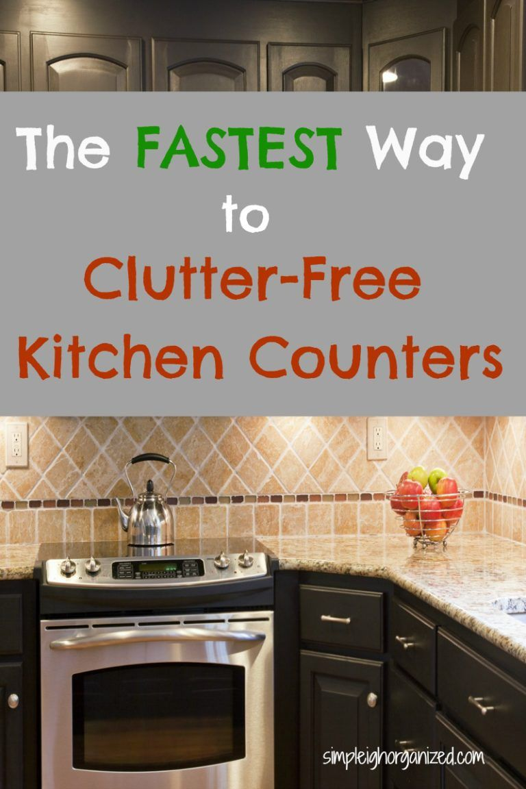 5 Simple Ways To Keep Your Kitchen Counters Clutter Free. Organization ...