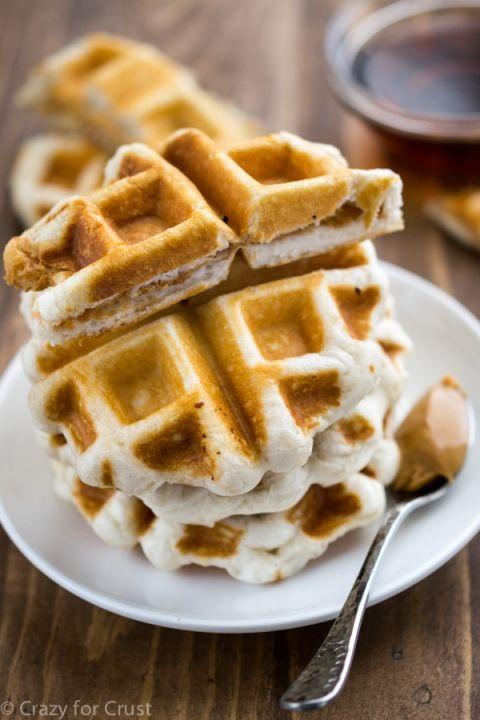 Peanut Butter Stuffed Pillsbury Grands Biscuit Waffles | Foodstuff