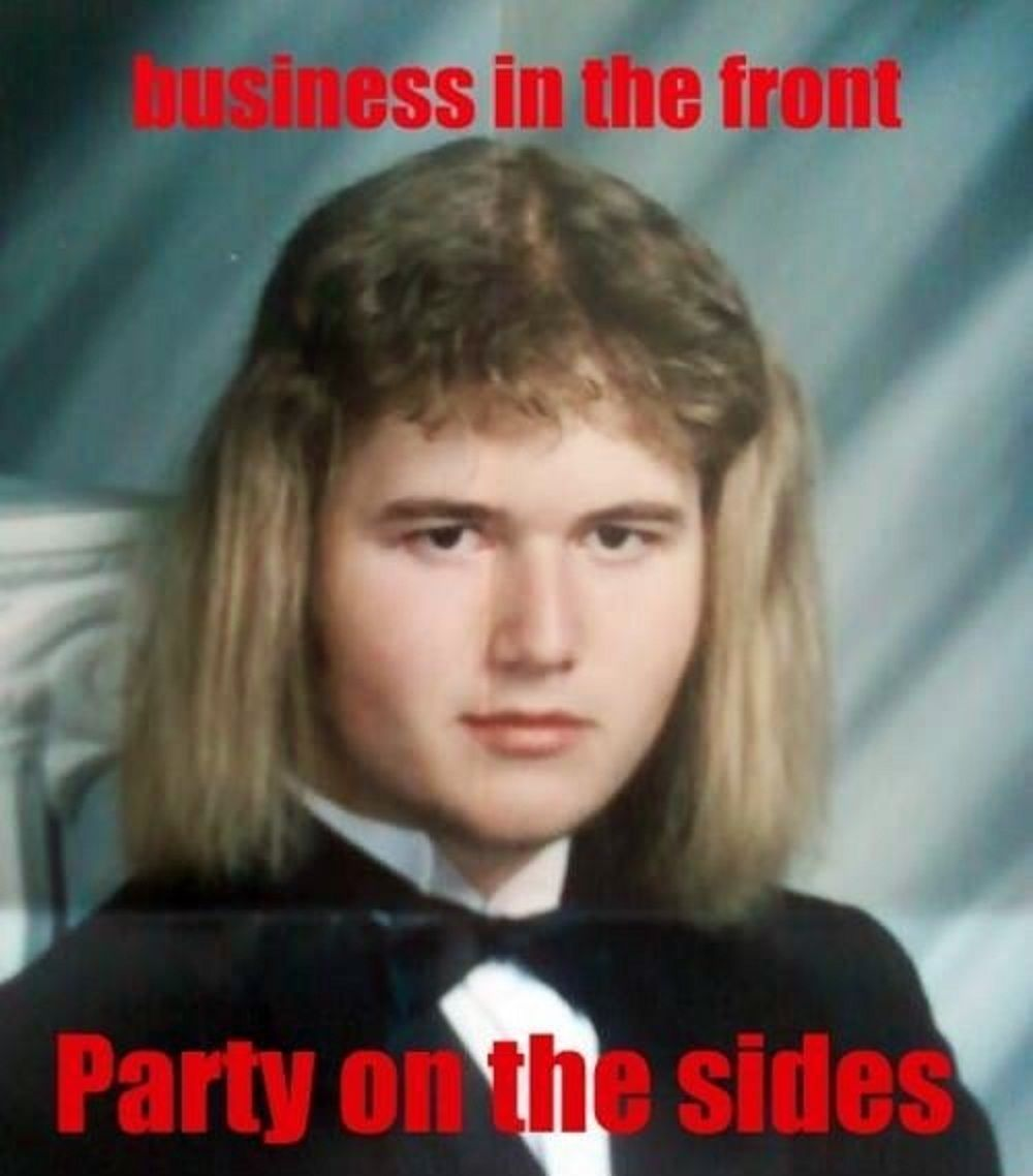 haha one ugly mullet   Humour   Pinterest   Mullets, Awkward and ...