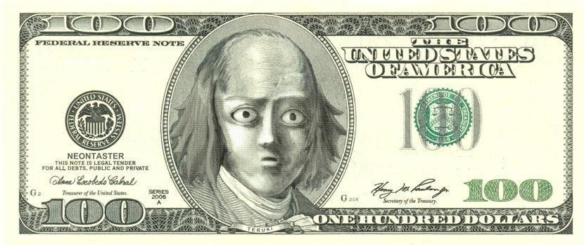 100 Teru Dollars Mob Psycho 100 In 2020 100 Dollar Bill Dollar Banknote Money Template