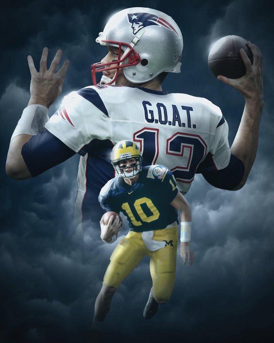 6e1680a1 G.O.A.T.- Greatest of all time | Tom Brady, and the Patriots. | Michigan  wolverines football, Patriots football, New england patriots football