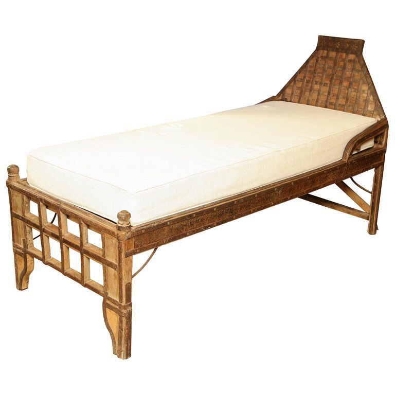 Superb 19th Century Indian Iron Mounted Bed in 2018 All boards