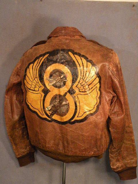 WWII painted Flight Jacket | vintage re I source | Pinterest