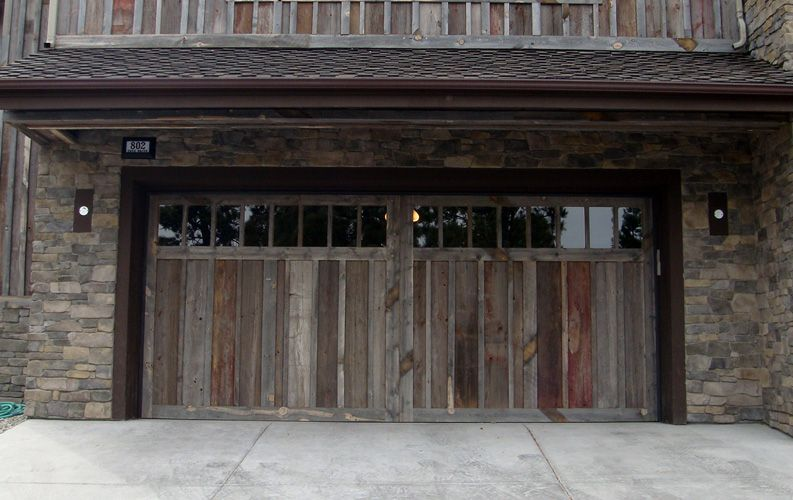 Superb Custom Garage Doors | Custom Garage Door Made From 100 Year Old Barnwood
