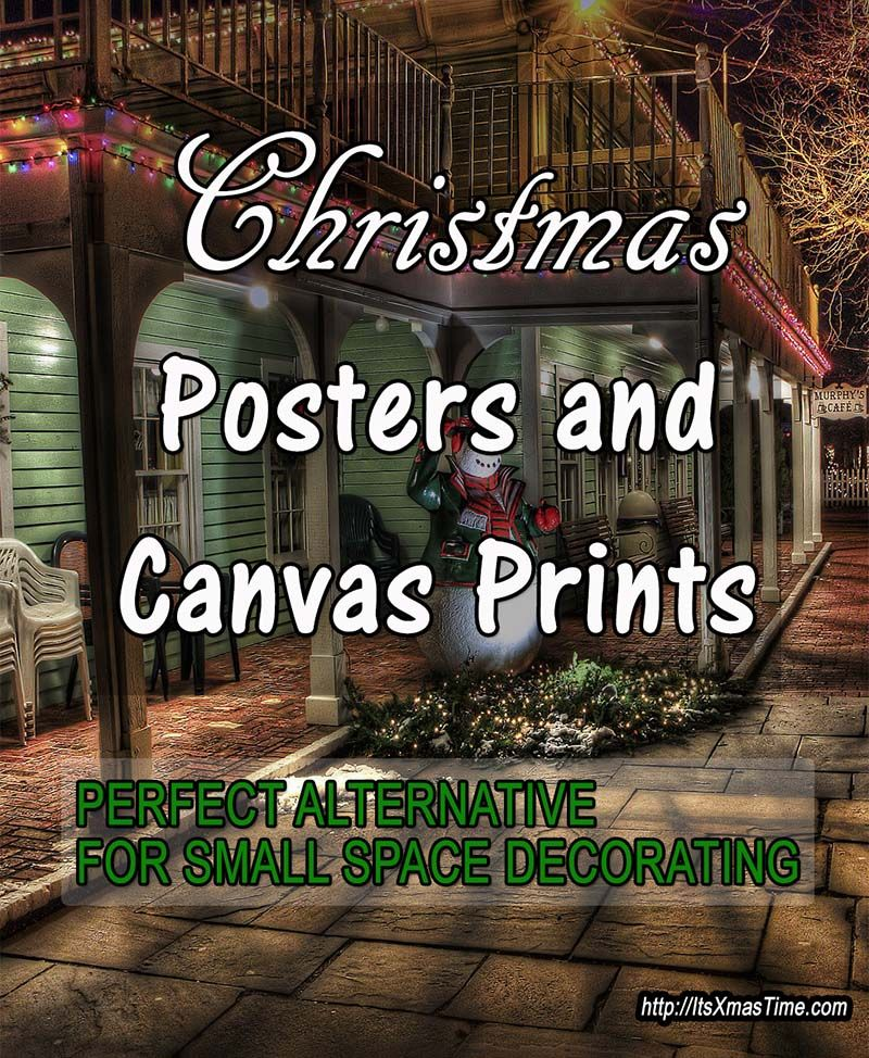 Christmas Posters and Canvas Art Prints for Small Spaces - Living in a small space, a tiny house, have a small room to decorate, then Christmas posters and canvas art prints are made for you, they bring in the cheerful atmosphere and don't take any space. #ChristmasPosters #ChristmasCanvasArtPrints