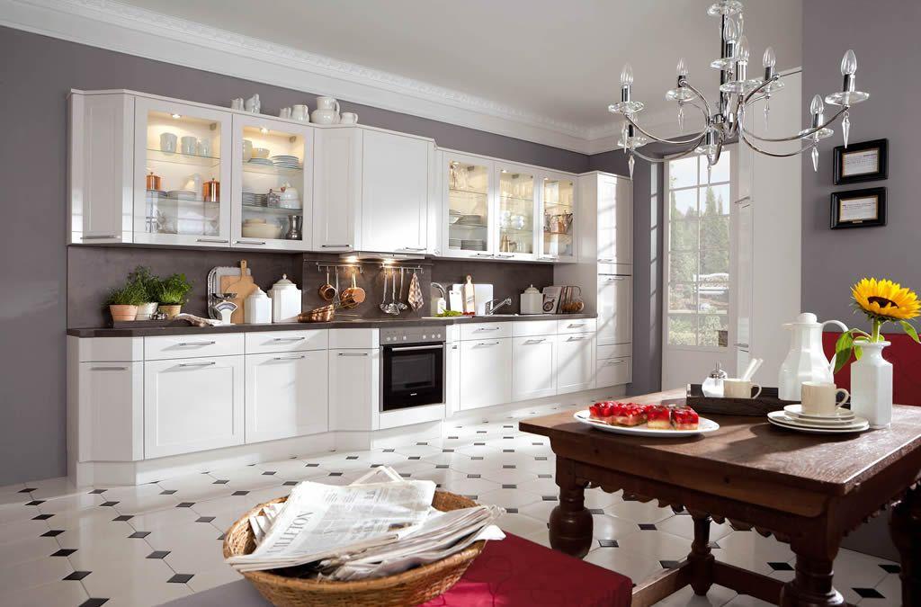 Nobilia - Arte hochglanz weiß Küche Pinterest - küche hochglanz weiss
