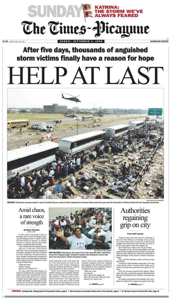 The Story Of Hurricane Katrina Through Stunning Local Newspaper Covers Hurricane Katrina Katrina New Orleans Louisiana