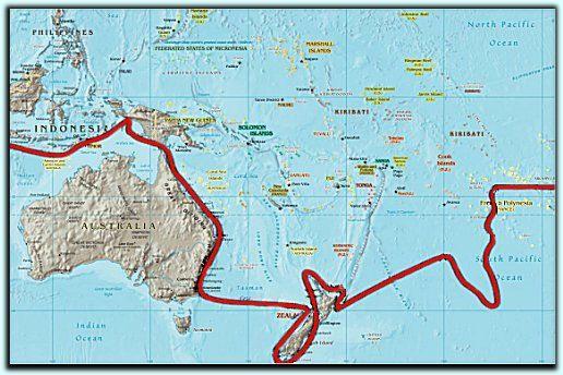 Map Of Australia 1770.Cook S Voyage Around New Zealand And Eastern Australia 1770