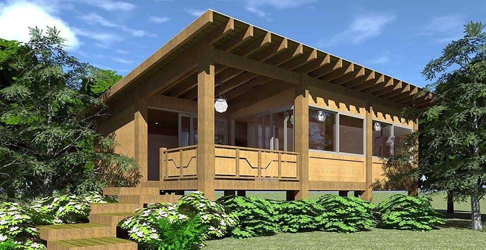 House plan cabin modern ranch southwest with sq ft bedrooms bathrooms tinyhousemodern also rh pinterest