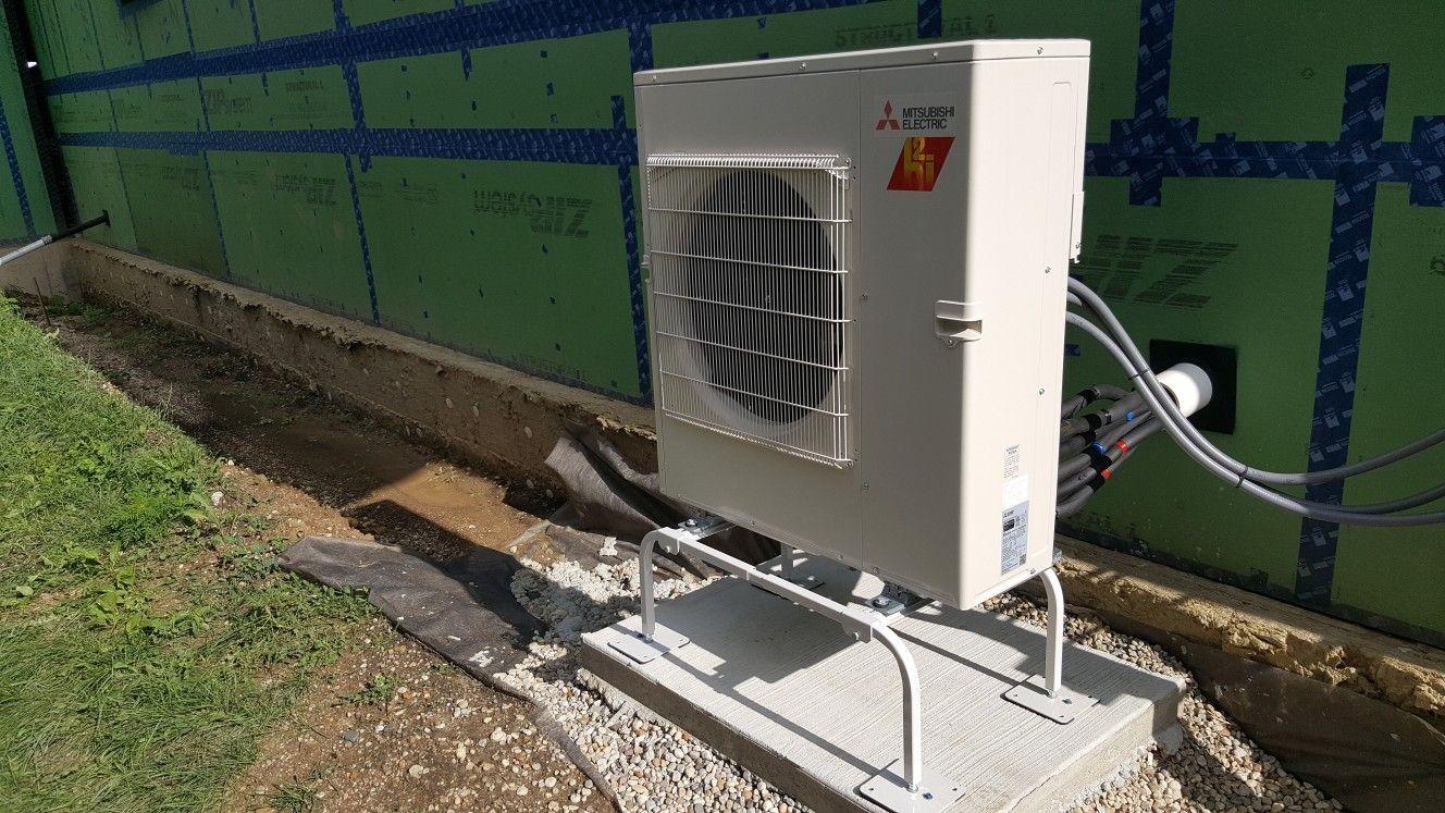 30kbtu Mitsubishi Hyper Heat Multi Zone Heat Pump Installed At A