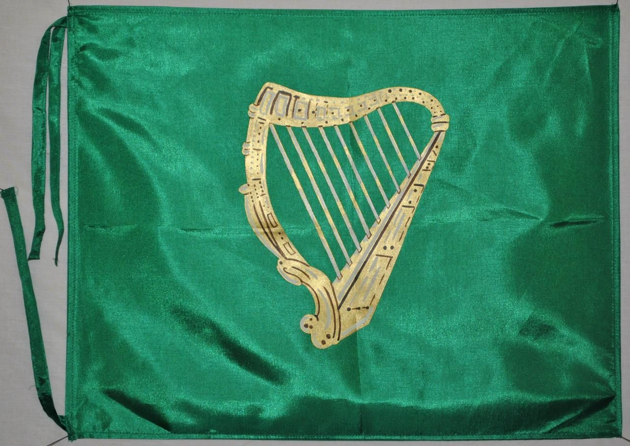 the green harp flag of the 17th century confederacy of