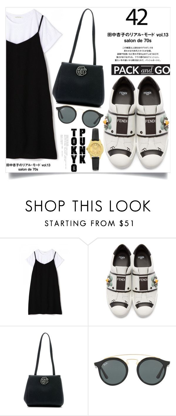 """""""Tokyo"""" by aislinnhamilton1993 ❤ liked on Polyvore featuring Fendi, Chanel, Ray-Ban, Versus, tokyo, polyvorecontest and Packandgo"""