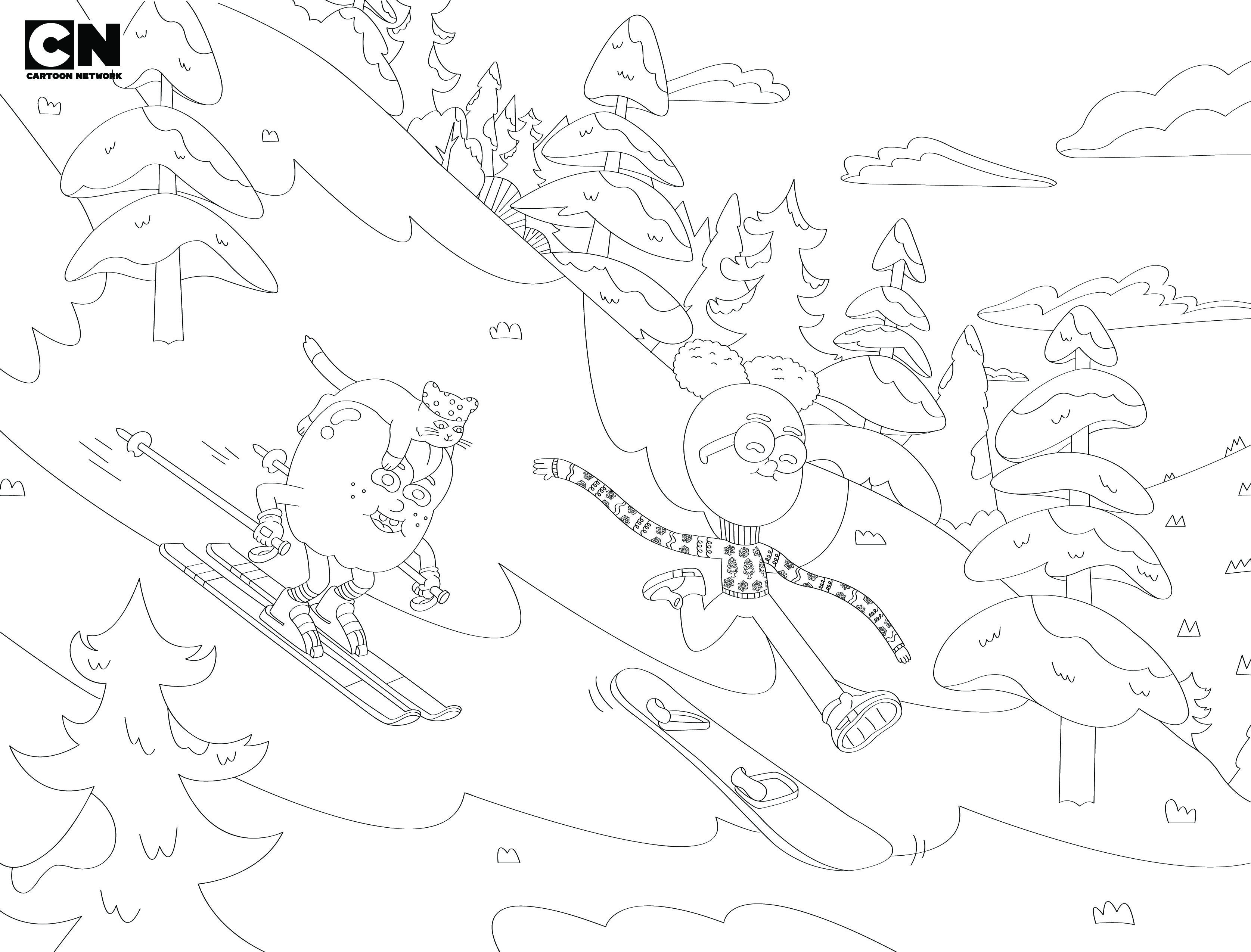 Cartoon Network Holiday Coloring Page Apple And Onion Kids Tv Shows Coloring Pages Kids Tv