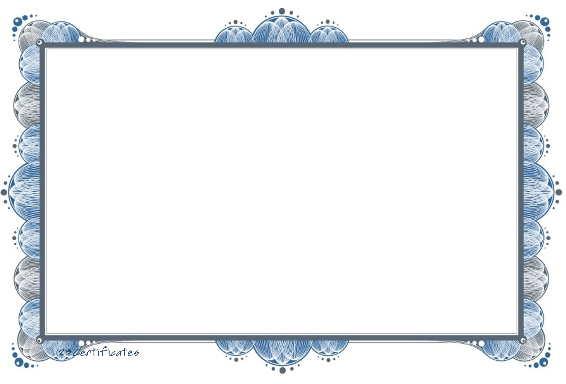 Printable Award Certificates Blank Free Certificate Border Artwork Background Templates