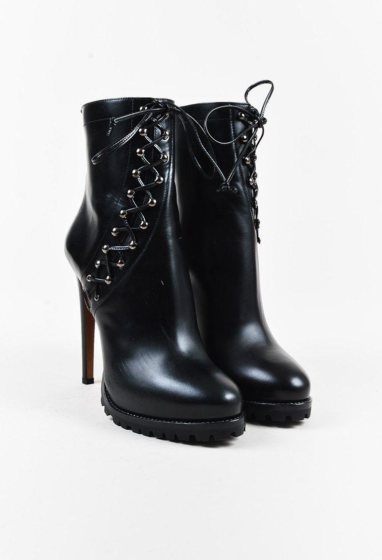 Alaïa Leather Round-Toe Boots classic cheap price hYPCWpQ
