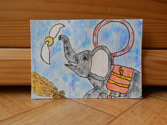 Original art Aceo  Artist trading card  by CuteCreationsByLea, $8.00