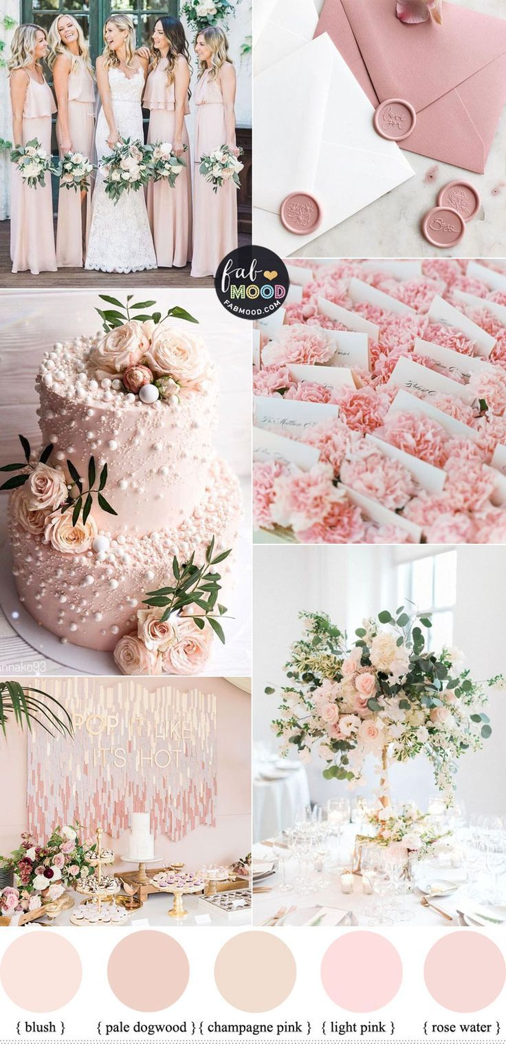 Pink wedding color combos 2020 in 2020 Pink wedding