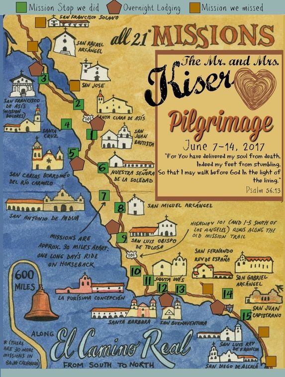 This Is The Pilgrimage We Took To The California Missions What A Trip California Missions California Missions Project California History