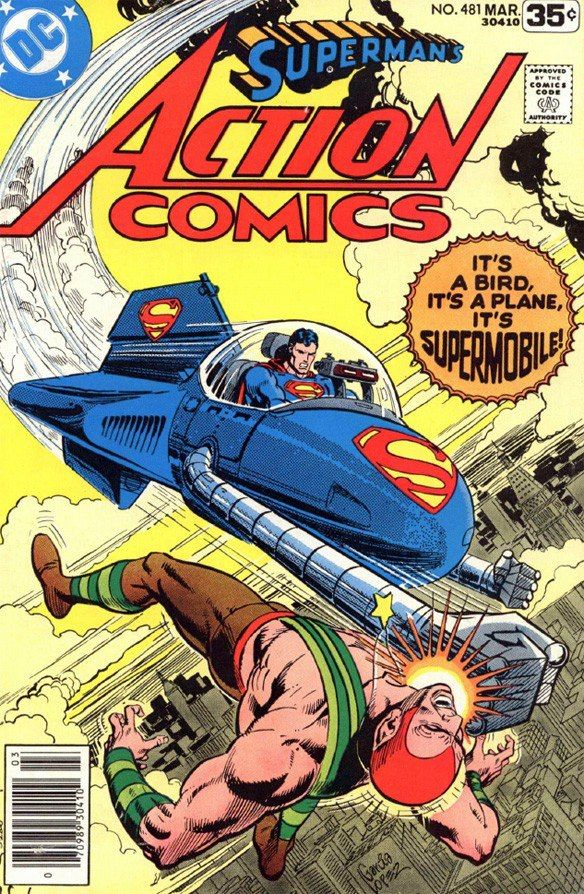 Created when Superman lost his powers, the Supermobile looked pretty cool until you get to the punching arms