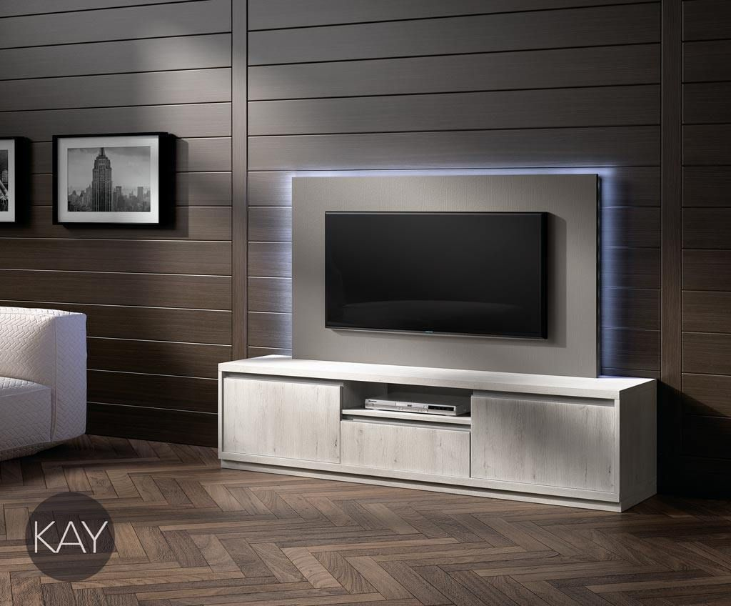 Con las puertas batientes y los cajones podemos tener un - Ideas mueble tv ...