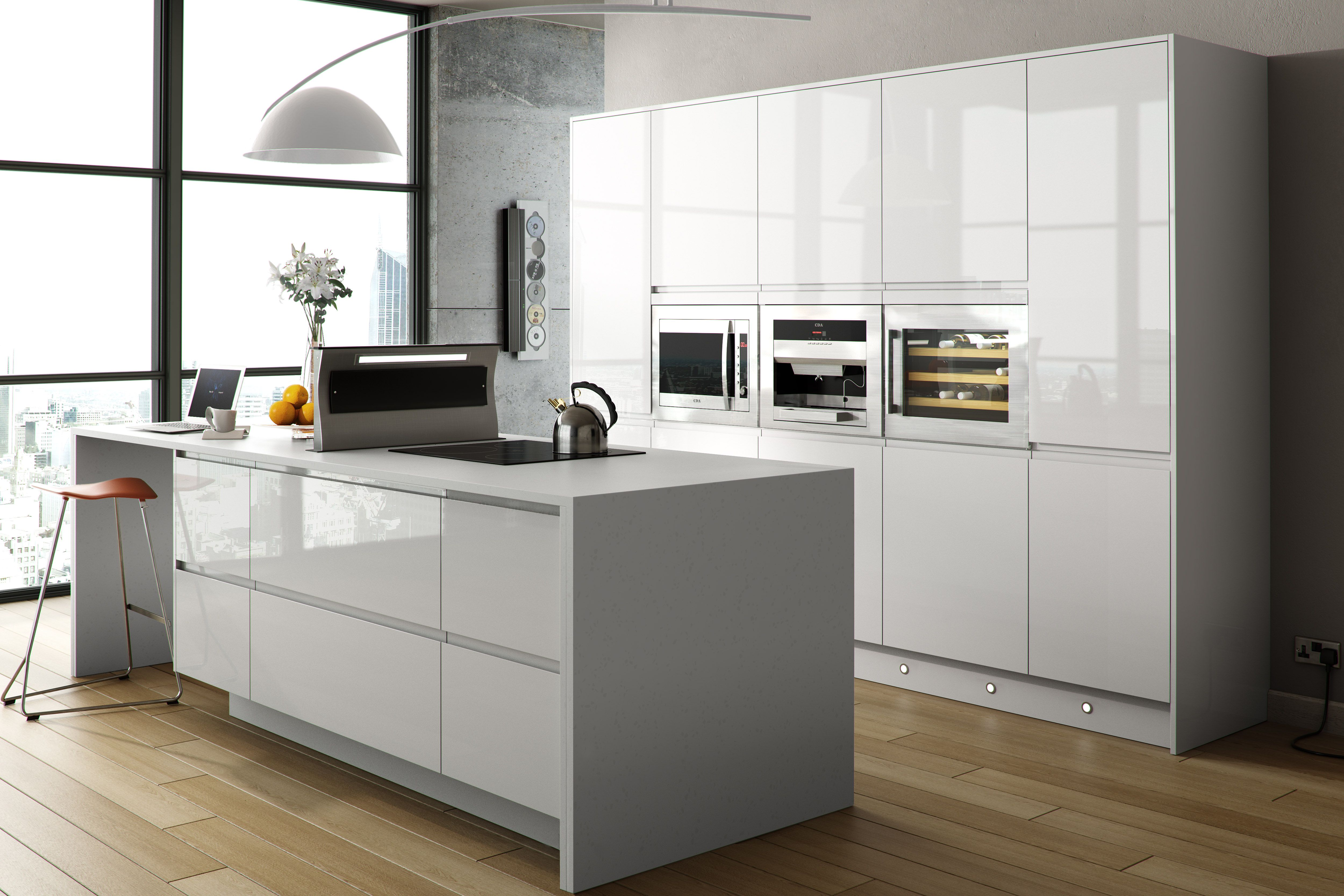1000 images about kitchen on island bench modern - White Gloss Kitchen Cabinets