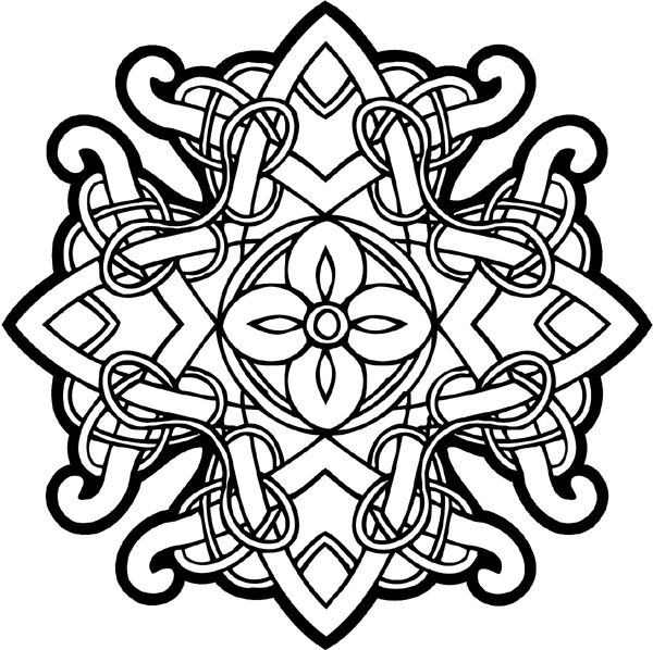 Celtic Designs Celtic Intricately Woven Emblem Vinyl Decal
