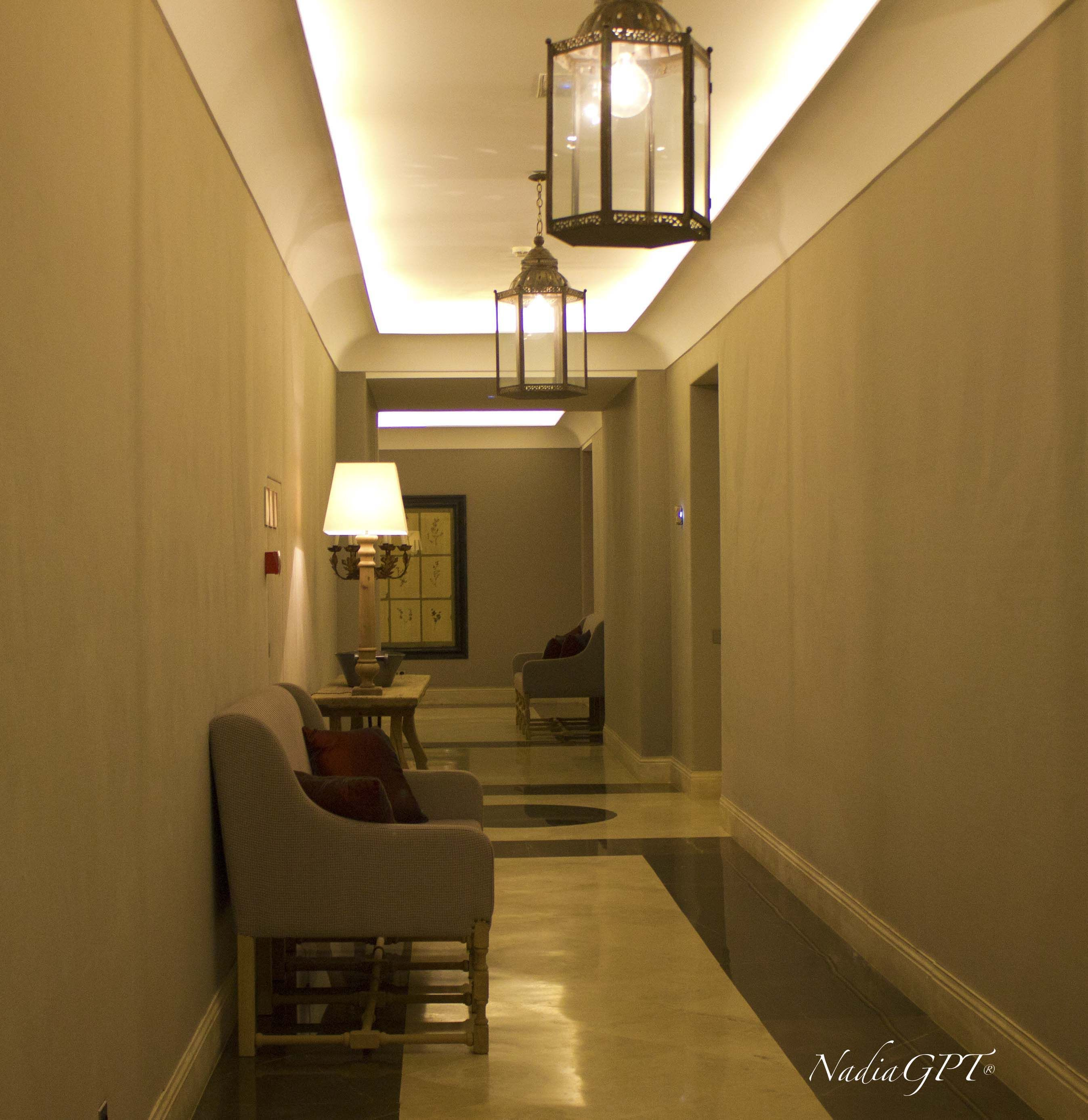 5 Star Hotel Hallway...Love The Colors!